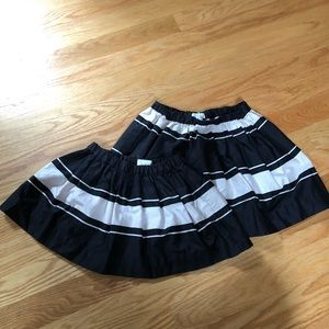 Crew cuts matching skirts.  Size 2 and size 4/5